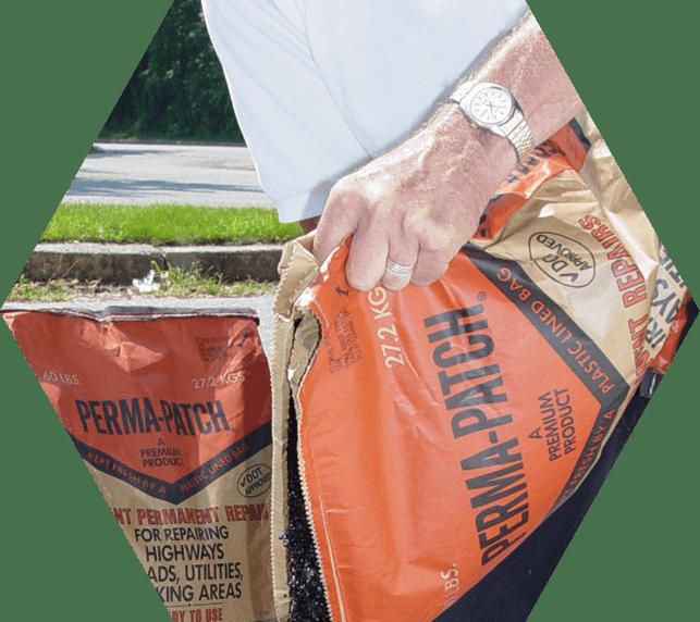 Perma-patch bag pour